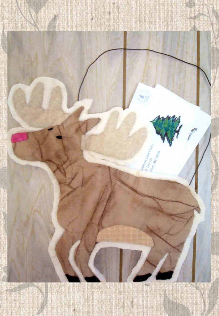 Mail Moose Quilted Pattern for Storing Letters to go to mailbox.  Raspberry Lane Crafts