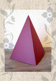 Maroon Red Paper Pyramid for Sale Sacred Geometry Decoration