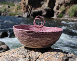 Artisanal Mauve Mini Basket