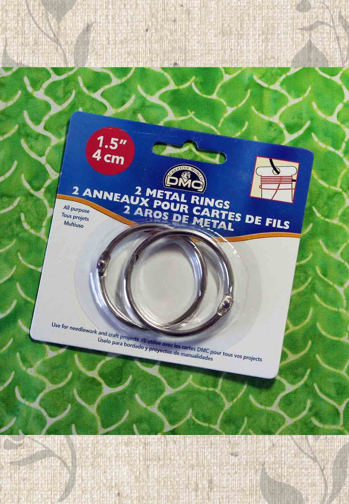 Pair of 1.5 inch metal rings for crafts for sale at Raspberry Lane Crafts