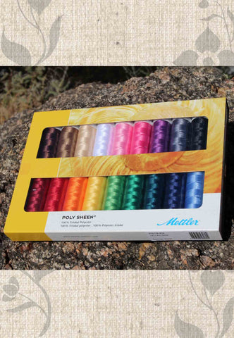 Mettler Thread Gift Set - Poly Sheen - Solids