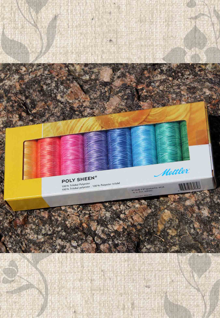 Mettler Thread Poly Sheen 8 Piece Pastels Gift Set Kit for Sale at Raspberry Lane Crafts