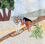 Mexican gray wolf quilt block