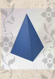 Midnight Blue Paper Energy Pyramid for Sale Sacred Geometry at Raspberry Lane Crafts