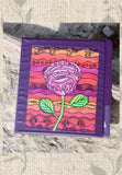 Beautiful Purple 3-Ring Binder with Southwest Rose Art Print by Wendy Christine.  Buy Purchase Find at Raspberry Lane Crafts