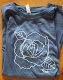 Rose tee for women in Navy Blue for sale
