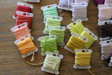 New DMC six stranded floss colors 19, 20, 21, 22, 13, 14, 15, 16, 10, 27, 12, 11, 18, 17, 23, 08