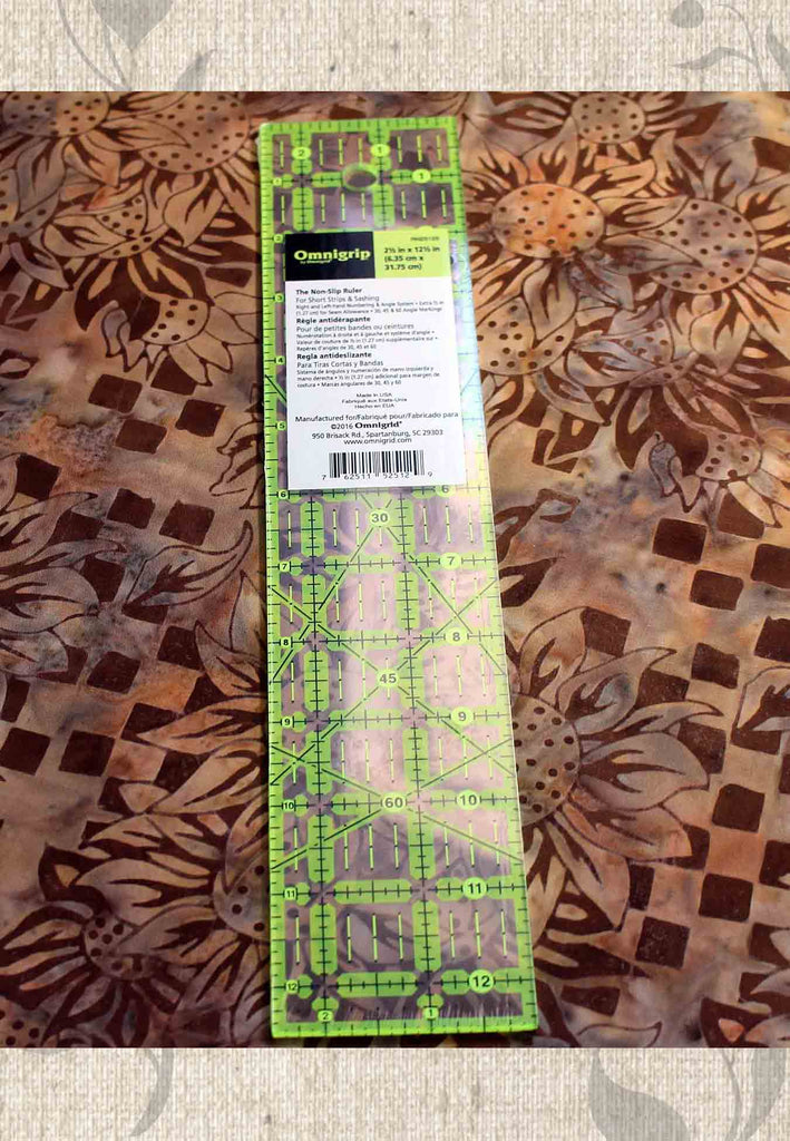 Buy Omnigrid Ruler 12.5 x 2.5 inches.  Find Purchase Sold at Raspberry Lane Crafts