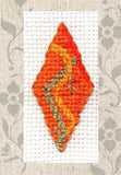 Buy Orange Diamond Ornaments Cross Stitch Pattern as part of Gothic Ornaments