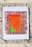 Orange Coffee Mug Art Print for Sale 8 x 8 inches from Raspberry Lane Crafts Buy Purchase Find