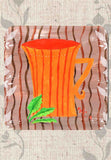 Orange Stripe Coffee Cup with Leaves Drink Coasters for Sale at Raspberry Lane Crafts