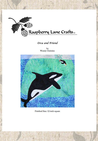 Orca and Friend Quilt Pattern Download