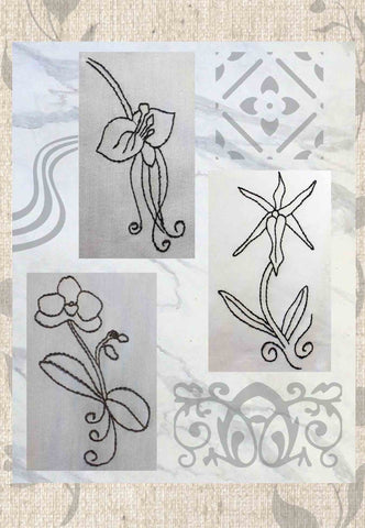 Orchid Fragrance Embroidery Digital Download