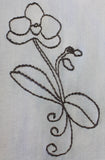 Orchid Majesty embroidery design