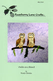 Owlets on a Branch quilt pattern block is #9 of the Mountain Habitats Collection at Raspberry Lane Crafts
