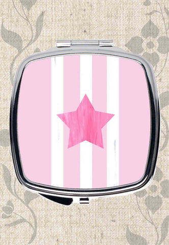 Pink Star Compact Mirrors