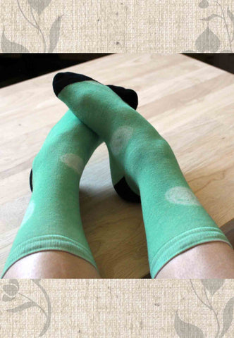 Parrot Green Dot Socks