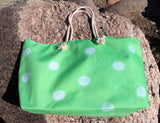 Green Spotted Weekender Bags to Purchase Find from The Art of Wendy Christine