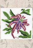 Passion Flower Cross Stitch Pattern for Sale. Tropical Flowers at Raspberry Lane Crafts