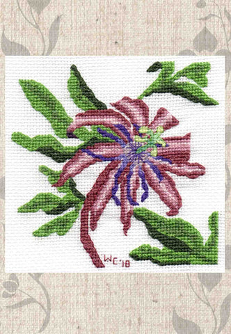 Passion Flower Cross Stitch Pattern