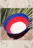 Buy red white and blue mini baskets at Raspberry Lane Crafts.  Hand-crafted in USA.  Find purchase buy