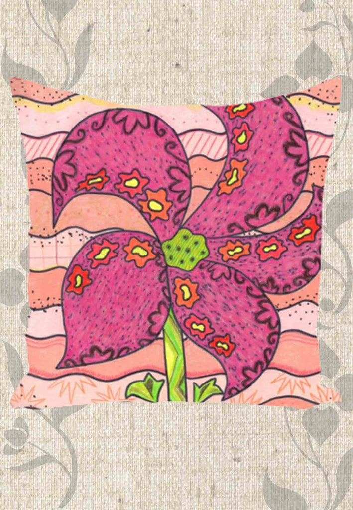 Peach Berry Flower Throw Pillows for Sale at Raspberry Lane Crafts