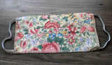 Buy fabric flowers face masks at Raspberry Lane Crafts.  Hand-crafted in USA.