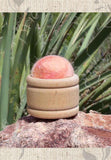 Peach Wool Pin Cushion Puffs Hand-Crafted for Sale