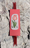 Buy Peach tulip cross stitch pattern bookmark at Raspberry Lane Crafts by Wendy Christine.  Part of Antique Flower Collection