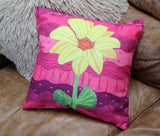 Hot pink flower decorative throw pillows for sale.  Find, buy, purchase at Raspberry Lane Crafts.  The Art of Wendy Christine