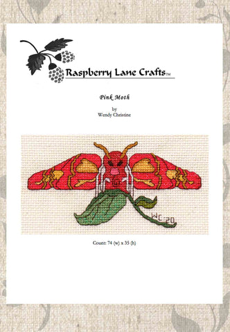 Pink Moth Cross Stitch Download