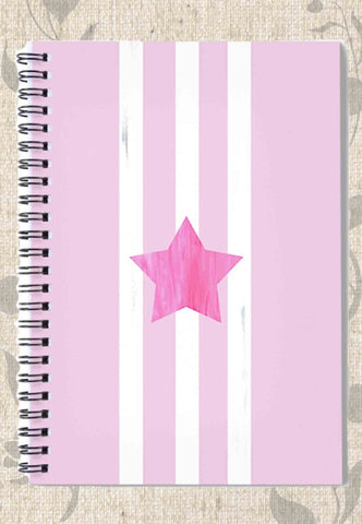 Pink Star Spiral Notebook
