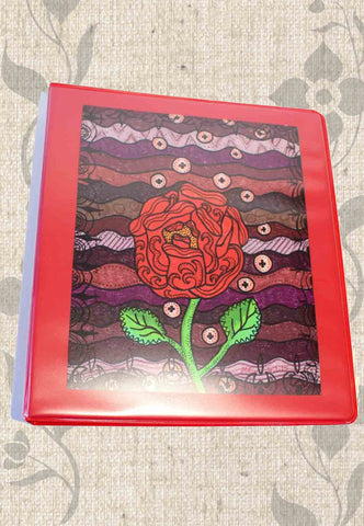 Plum Wine Red Three-Ring Binder