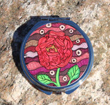 Red Rose Compact Mirror for Sale from The Art of Wendy Christine