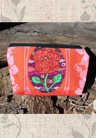Plum Wine Red Accessory Pouches