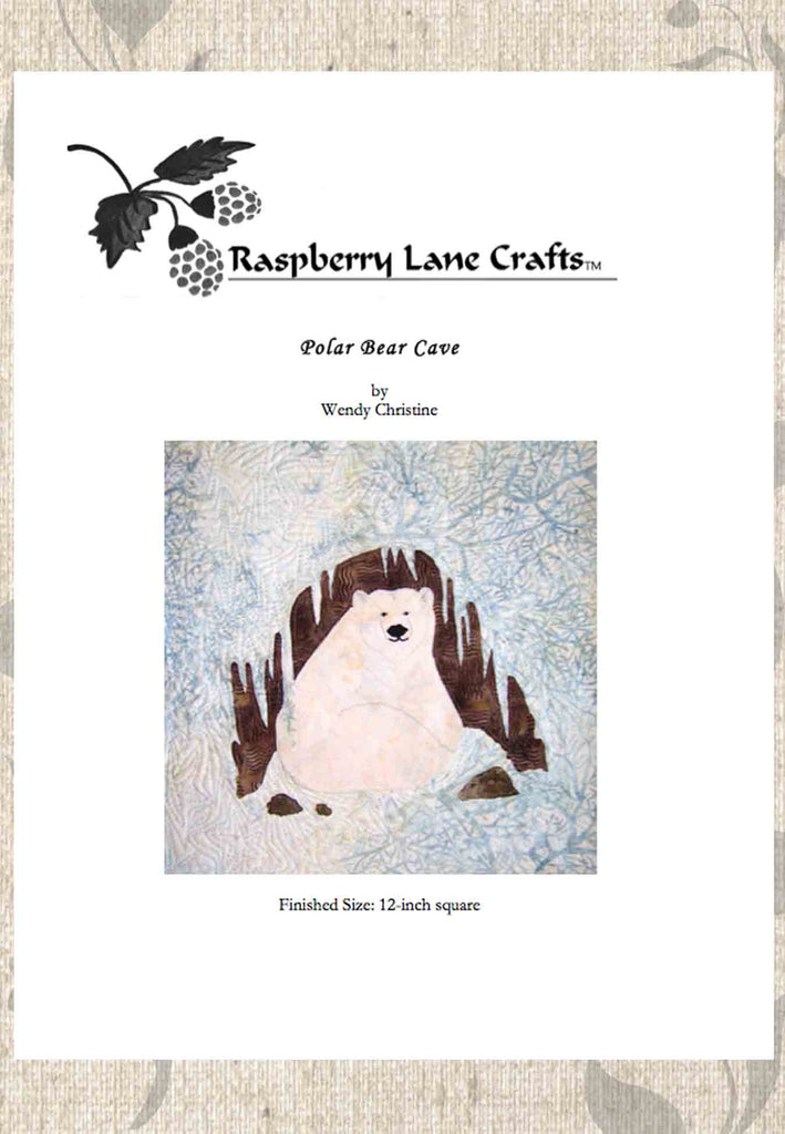 Polar Bear Cave quilt pattern download for sale