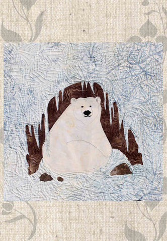 Polar Bear Cave Quilt Block Pattern