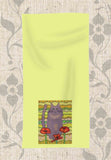 Buy Yellow Hand Towel featuring Gray Cat with Poppy Flowers Artwork by Wendy Christine.  Buy Find Purchase at Raspberry Lane Crafts