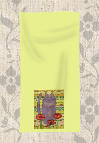 Poppy Cat Hand Towel