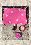 Purification Pink Bag and Basket Gift Set for Sale from Raspberry Lane Crafts