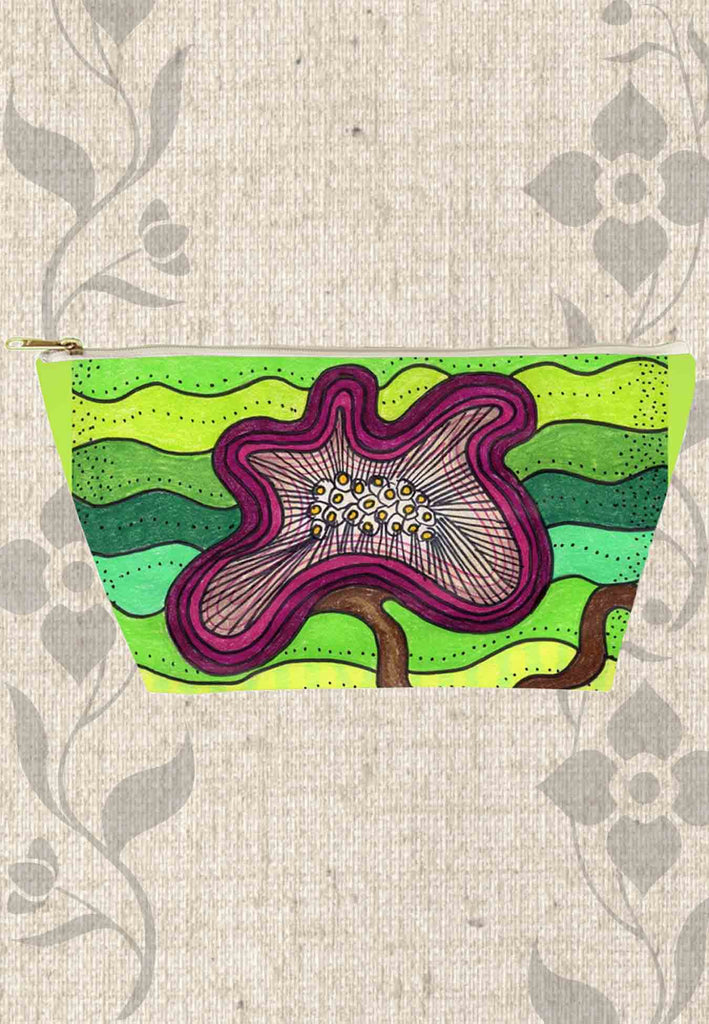 Green Zipper Pouch Bag for Pencils Cosmetics Women Teens Bathroom for Sale at Raspberry Lane Crafts