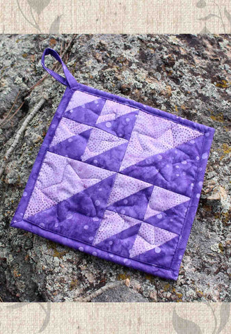 Purple Batik Potholder
