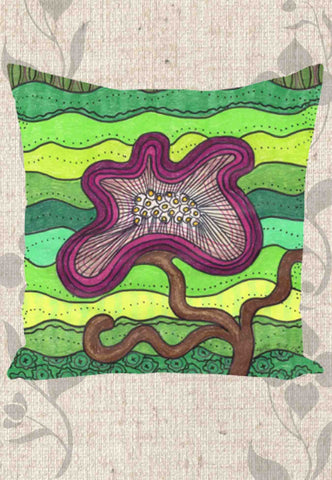 Purple Flower for Mom Throw Pillows