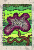 Buy Purple Flower for Mom Spiral Notebook featuring the Art of Wendy Christine