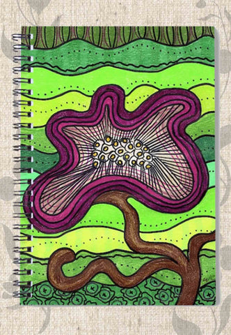 Purple Flower for Mom Spiral Notebook
