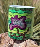 Purple Flower for Mom on Green Mug for Sale from The Art of Wendy Christine