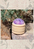 Wool Pin Cushion Puffs - Mountain Purple