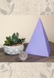 Large purple paper pyramid great sacred geometry energy to buy