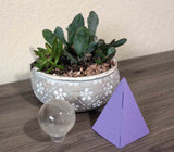 4-inch Small Petal Purple Paper Pyramid for sale sacred geometry in your home