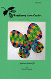 Front cover of Rainbow Butterfly sewing pattern for sale at Raspberry Lane Crafts.